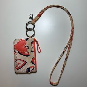 Vera Bradley ID Case and Lanyard